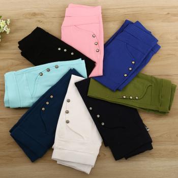 All-match slim ladies dress Leggings skinny jeans Korean winter, candy colored woven pants