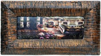 厂家直销 欧式画框 经典装饰画 复古艺术框 树皮纹框