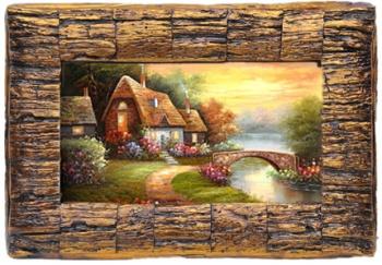 直销 欧式画框 经典装饰画 复古艺术框 树皮纹框