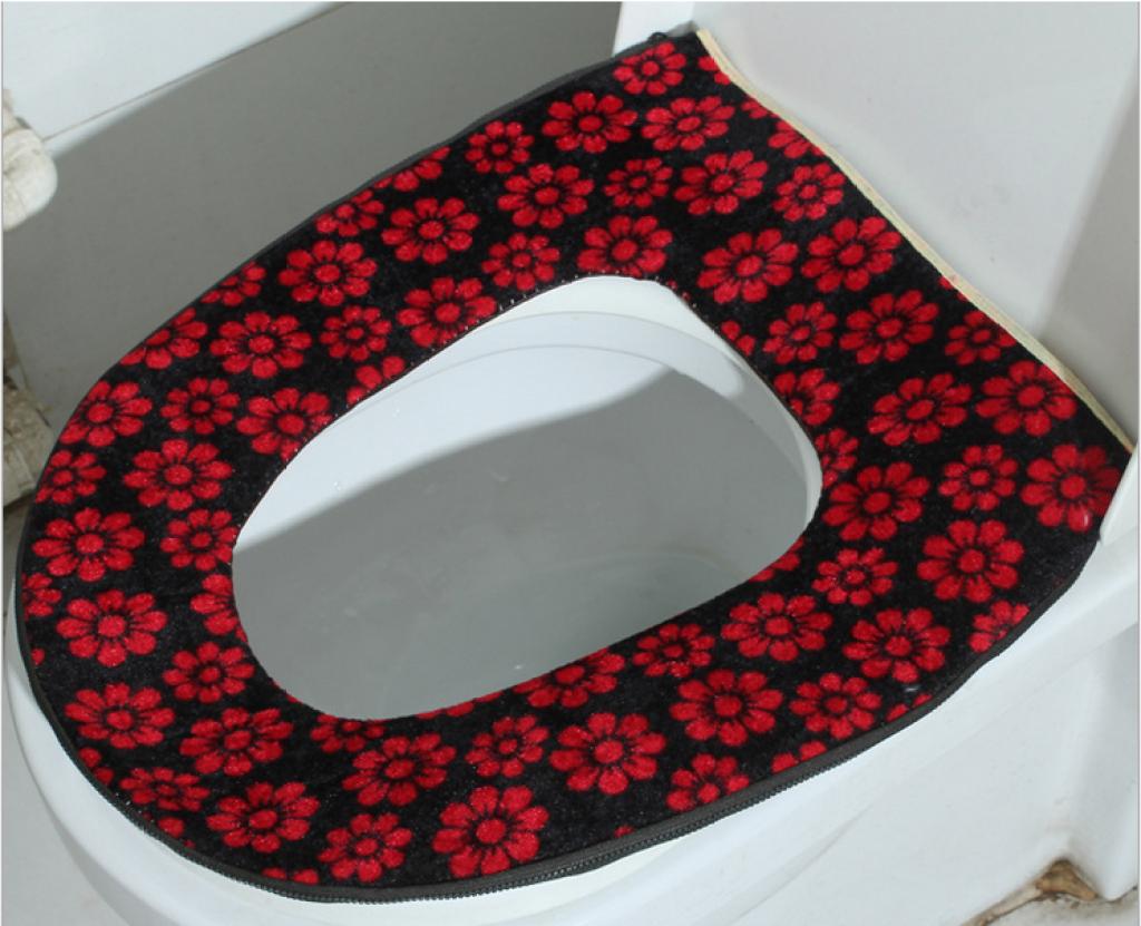 厂家直供 新款太阳花粘扣保暖o型马桶圈 马桶垫 卫生用品