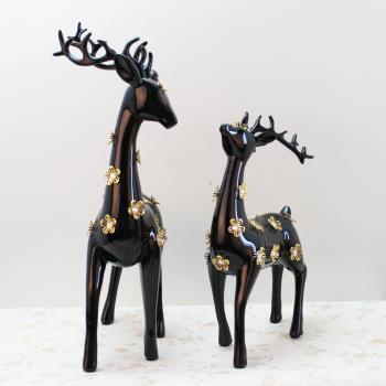 Resin crafts ornament cabinet decoration Home Furnishing deer living room wedding gift gift