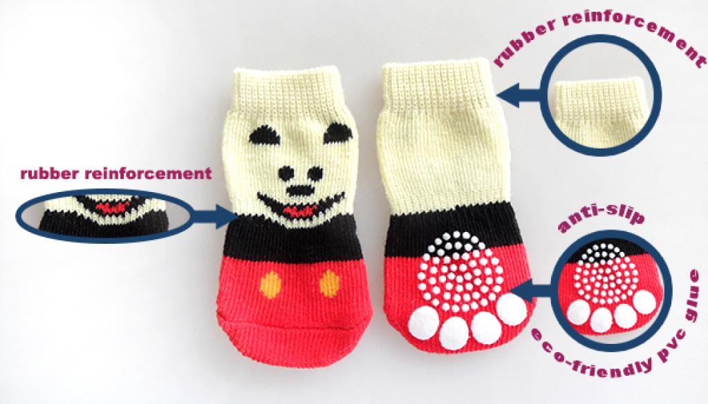可爱卡通宠物袜子 狗狗袜子 脚套 socks