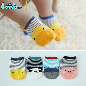 The summer children's cartoon printing boat socks baby socks baby anti-skid floor socks