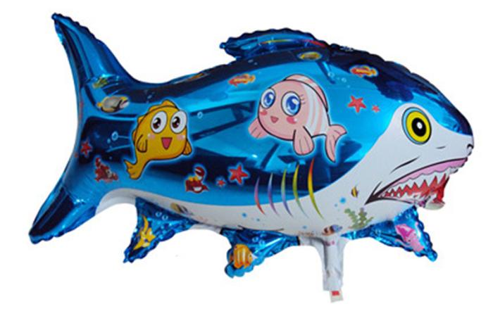 铝膜气球动物卡通 海底鲨鱼 娃娃鲨鱼_深圳布鲁精灵_.