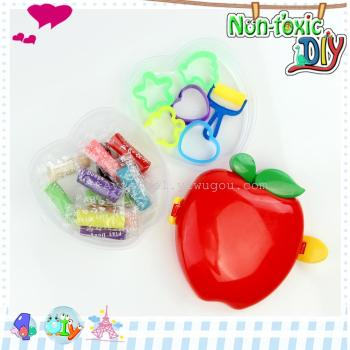 双层苹果diy创意环保无毒3d彩泥橡皮泥