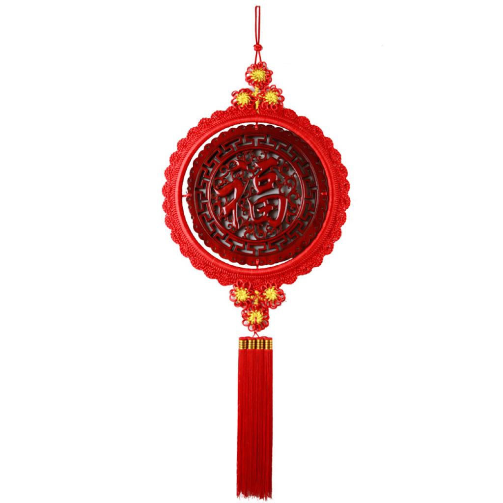 大号圆形香樟木木雕中国结