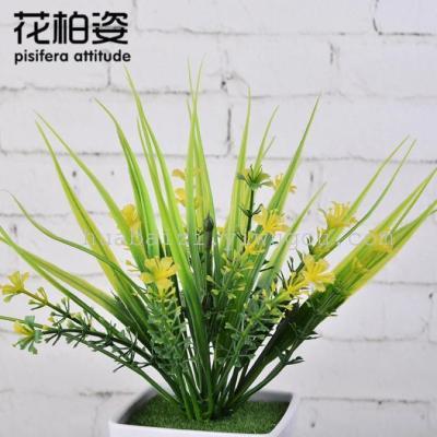 Pisifera posture plastic basin simulation flower pot with melamine plastic imitation ceramic potted plants and flowers