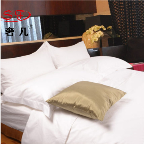 Four-piece set of bedsheets in four-piece bed of luxury five-star hotel, 6040S white cotton