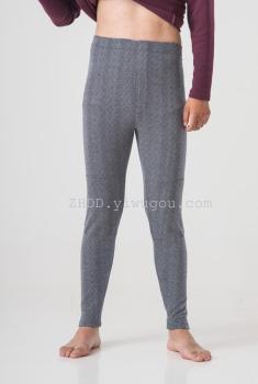 Thick solid PANTS LEGGINGS jacquard kneepad trousers long johns warm pants
