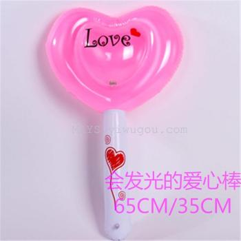 Inflatable toys wholesale hot light night market stall love stick model toy Festival props