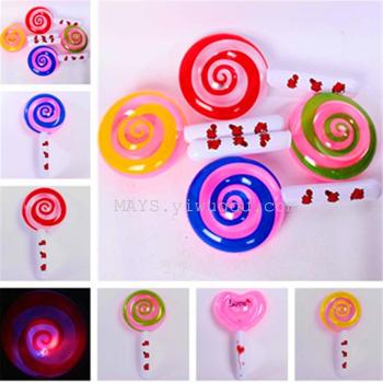 Inflatable toys wholesale hot night market stall luminous lollipop Model Toy Festival props