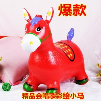 PVC animal horse inflatable animal toys with music to spread the goods