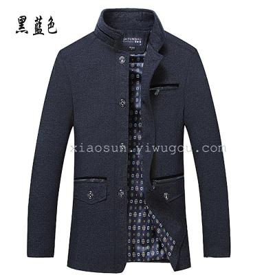 In older male leisure jacket collar thin fathers jacket autumn