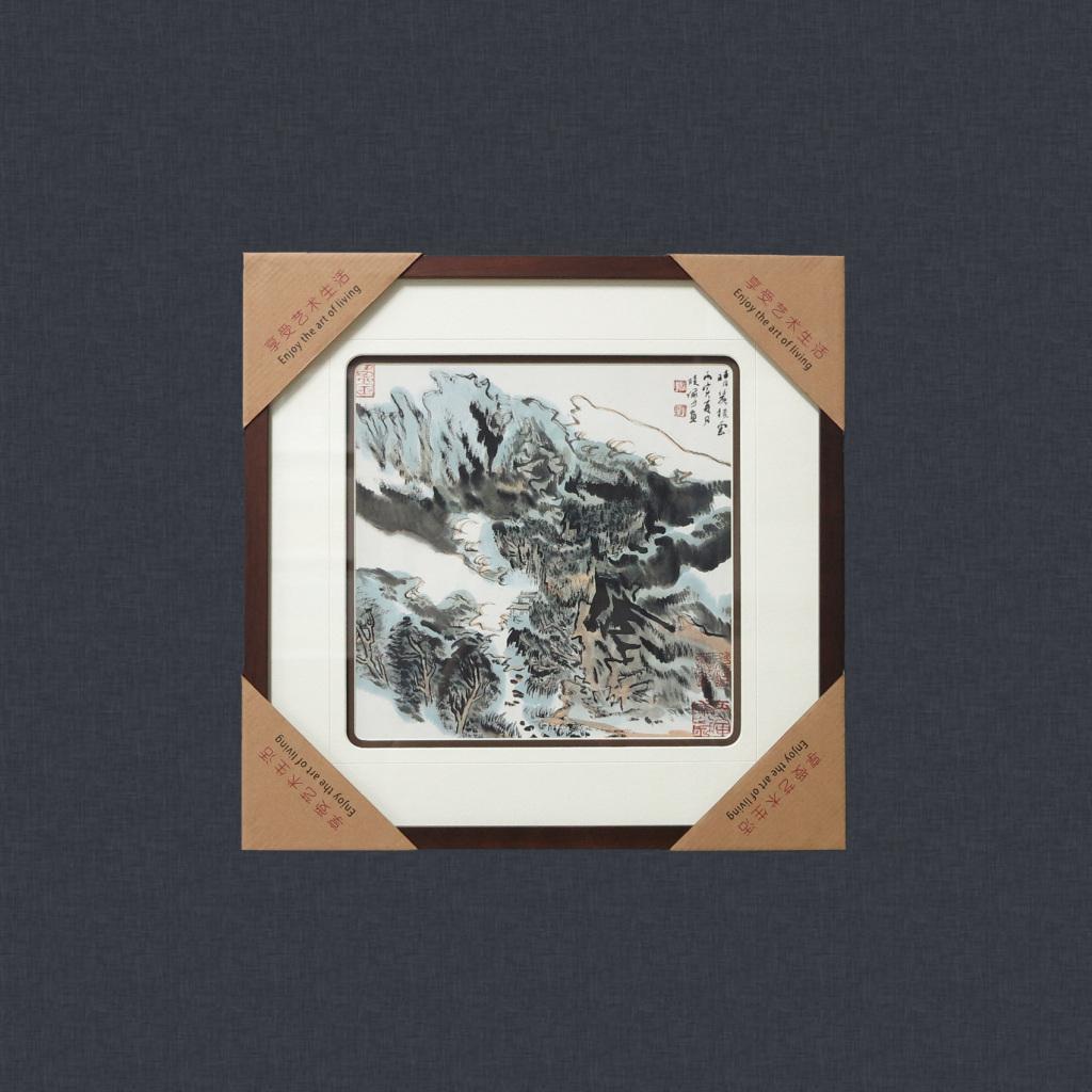 现代新中式客厅装饰画山水画风景国画办公挂画壁画