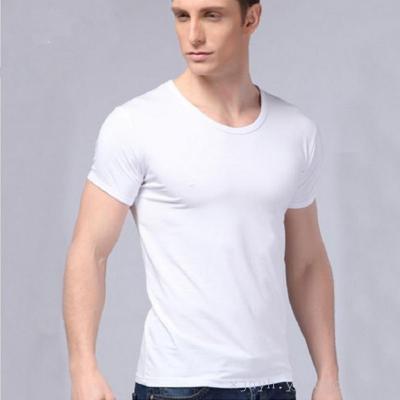 Men's pure combed cotton all-match t-shirt tee Mens Cotton Vest