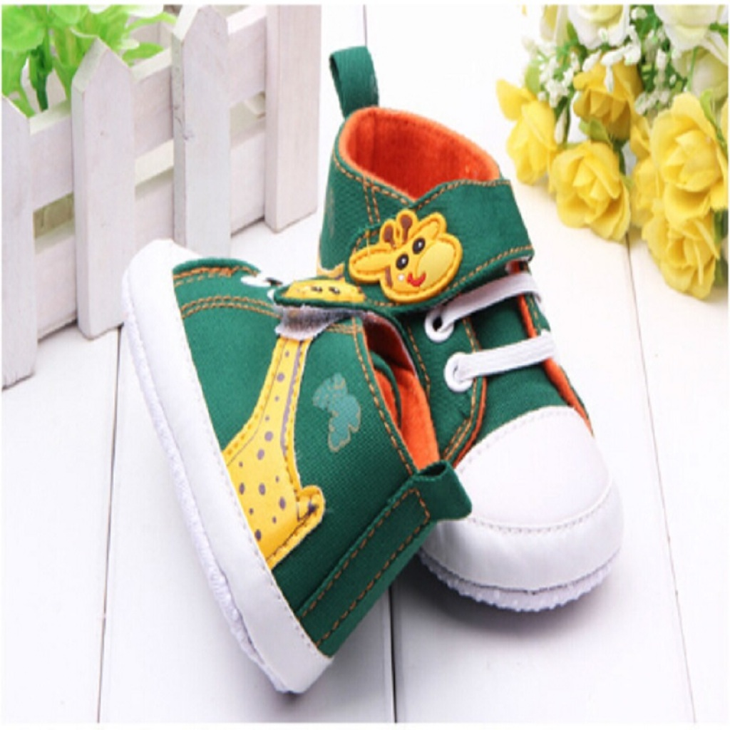 卡通长颈鹿图案婴儿鞋 宝宝鞋 学步鞋