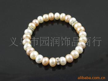 The natural pearl bracelet 8mm rings bracelets jewelry Costume Jewelry Import elastic rope