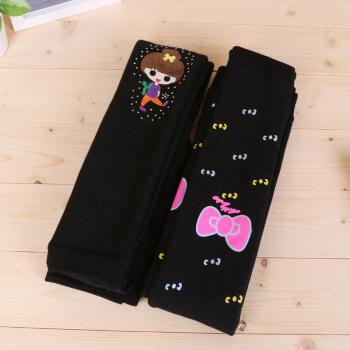 Cute Korean girls pants printing gold armor thick Leggings stretch pants warm pants