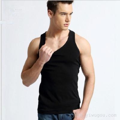 Summer men's cotton vest men's hurdles men's sleeves