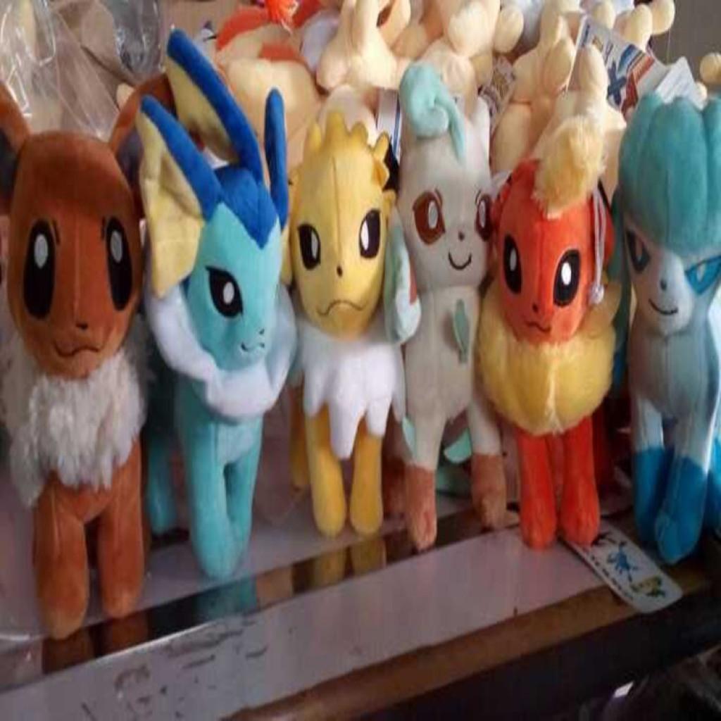 宠物小精灵口袋妖怪神奇宝贝九款坐伊布仙伊贝毛绒公仔玩具布娃娃