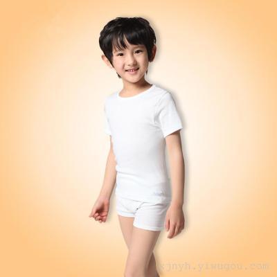 Boy boy Half Sleeve Shirt Short Sleeved T-shirt cotton blouse shirt with white baby summer children