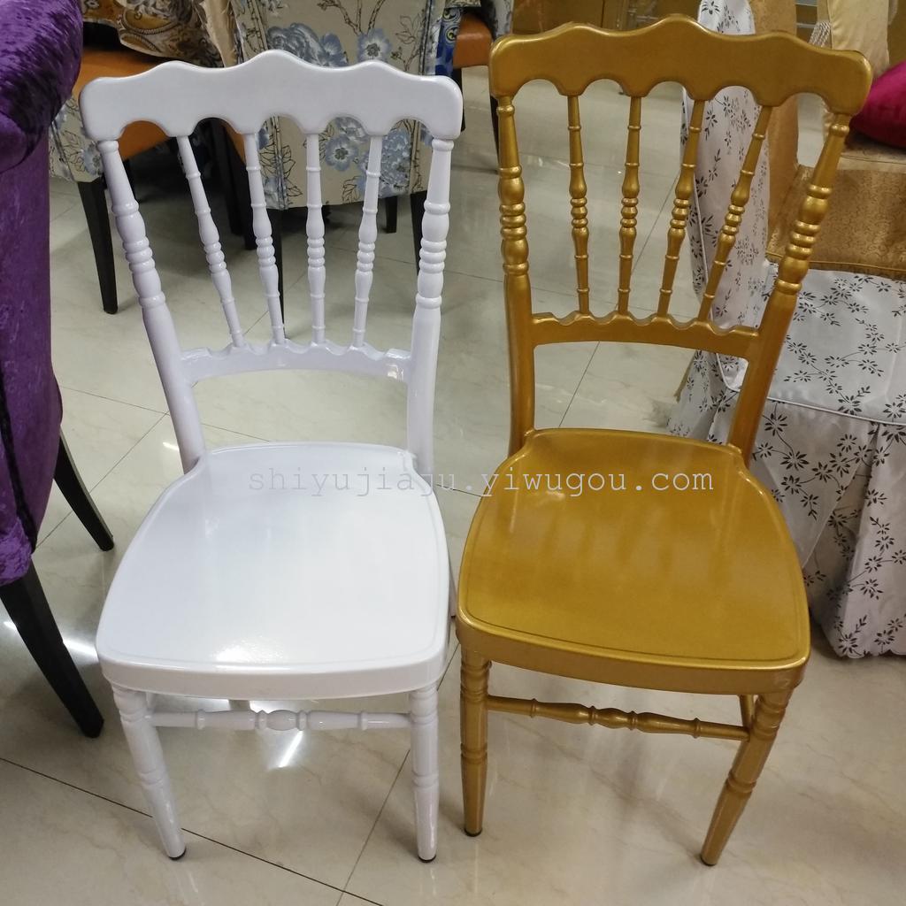 义乌外贸竹节椅 铝合金宴会椅 户外婚礼椅 古堡椅