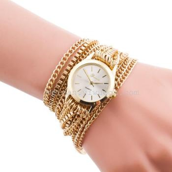The new Europe three times around the watch chain aliexpress selling Chain Bracelet Watch