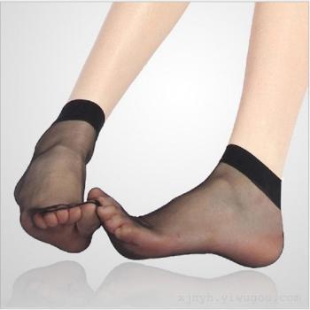 Short silk stockings summer women's ultra thin silk stockings sexy silk stockings