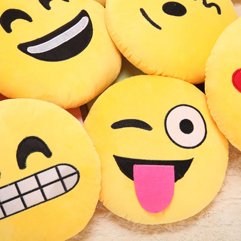 qq表情包公仔毛绒玩具抱枕表情包创意玩具表情玩偶3图片