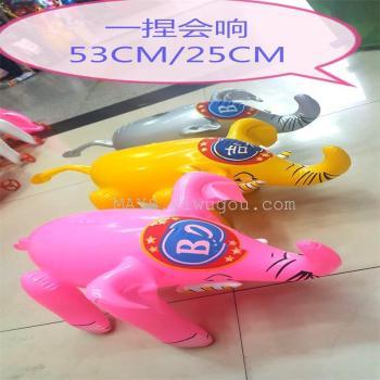 Yiwu PVC inflatable toys factory direct wholesale supply of BO like elephants, auspicious stall