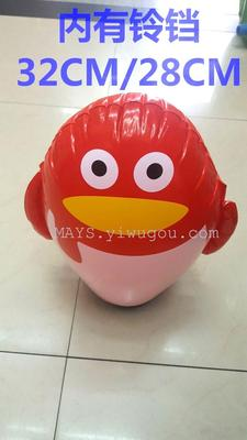 Yiwu PVC inflatable toys factory direct wholesale sand loading 32CM inflatable tumbler in Bell