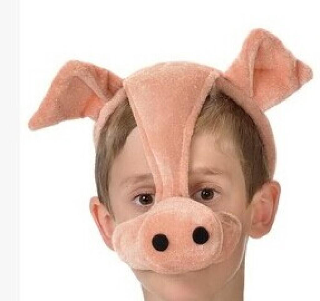 厂家直销奶牛动物鼻套面具