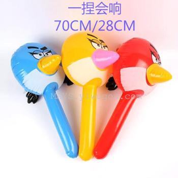 Factory direct PVC inflatable toy bird stick angry birds medium stick stall goods