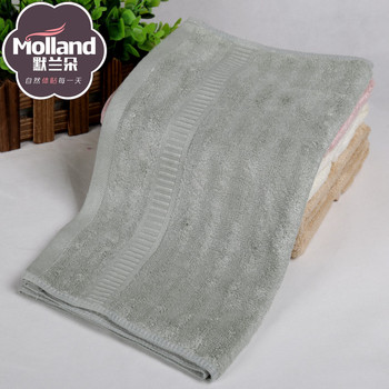 質素な竹繊維ウールジャガードサテンタオルタオルを振ります