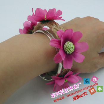 New homema bracelets Flower Bracelet Wrist flower flower jewelry lvkong various decorative colored rope can be selected