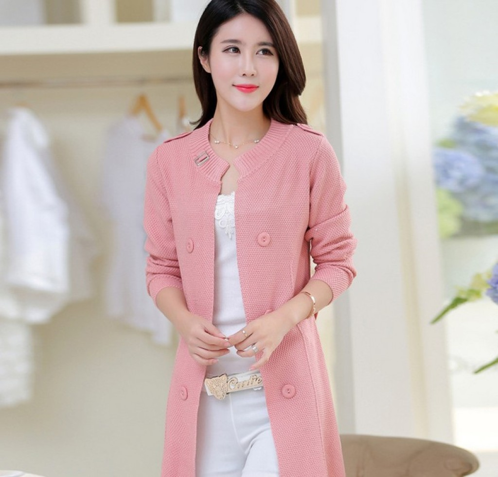 Supply The New Korean Women In The Womens Long Sweater Slim Double