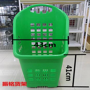 四轮高背购物篮   超市购物篮