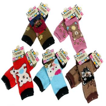 1964CF winter warm coral fleece socks children's socks 8-12 year old FUGUI