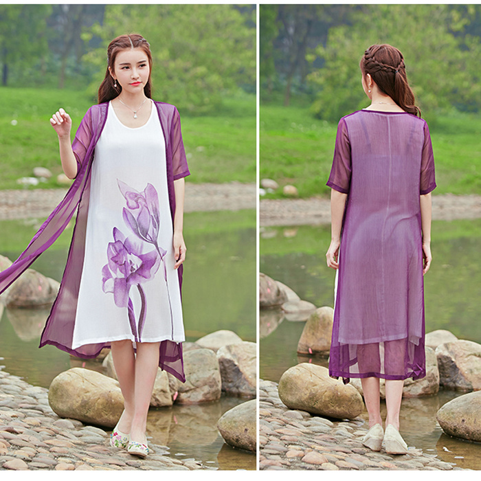 National Wind dress loose two pieces