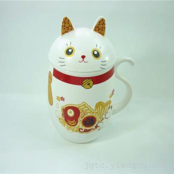 Chun ceramics factory genuine creative Lucky Cat Mug Cup Cup Cup