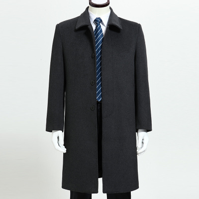 In the old men in the long and warm woolen coat cashmere casual men's coats