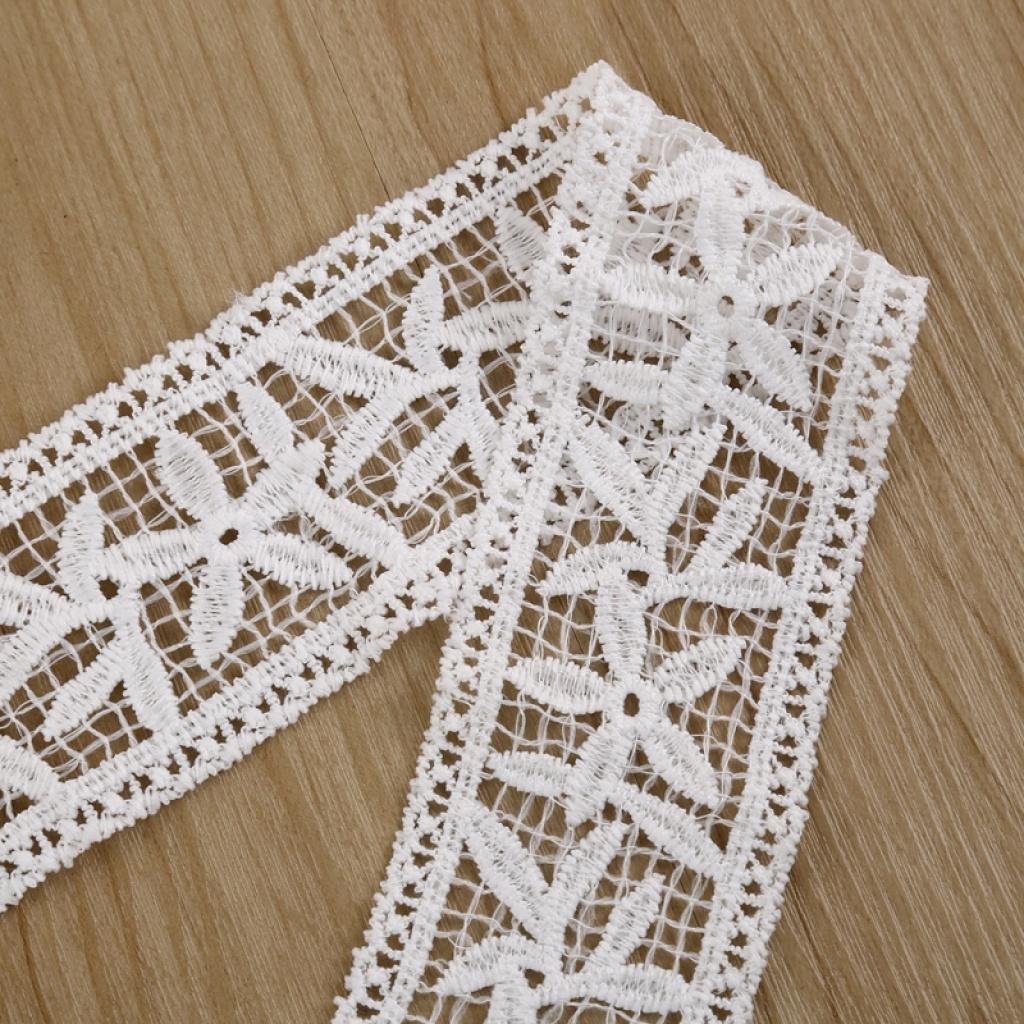 白色条形镂空刺绣花边 服装diy饰品沙发辅料