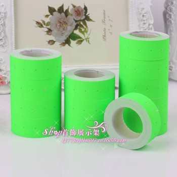 Marking paper price tag price tag paper green