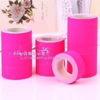 Single row code printing paper label paper that paper sticker price tag of office equipment supplies rose red