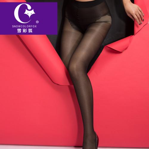 Thin silk stockings backing 28D elastic core spun silk velvet bikinis crotch pantyhose multicolor wholesale