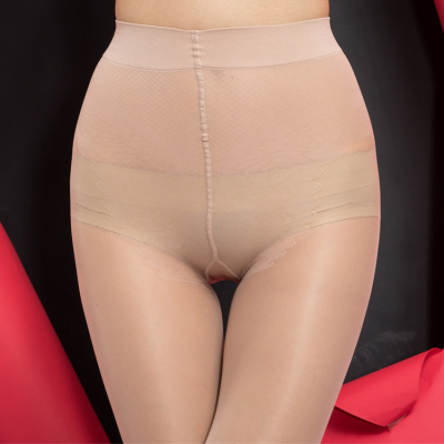 Thin silk stockings backing 28D elastic core spun silk velvet bikinis crotch pantyhose multicolor wholesale