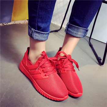 New fashion lace black red all-match comfortable casual shoes