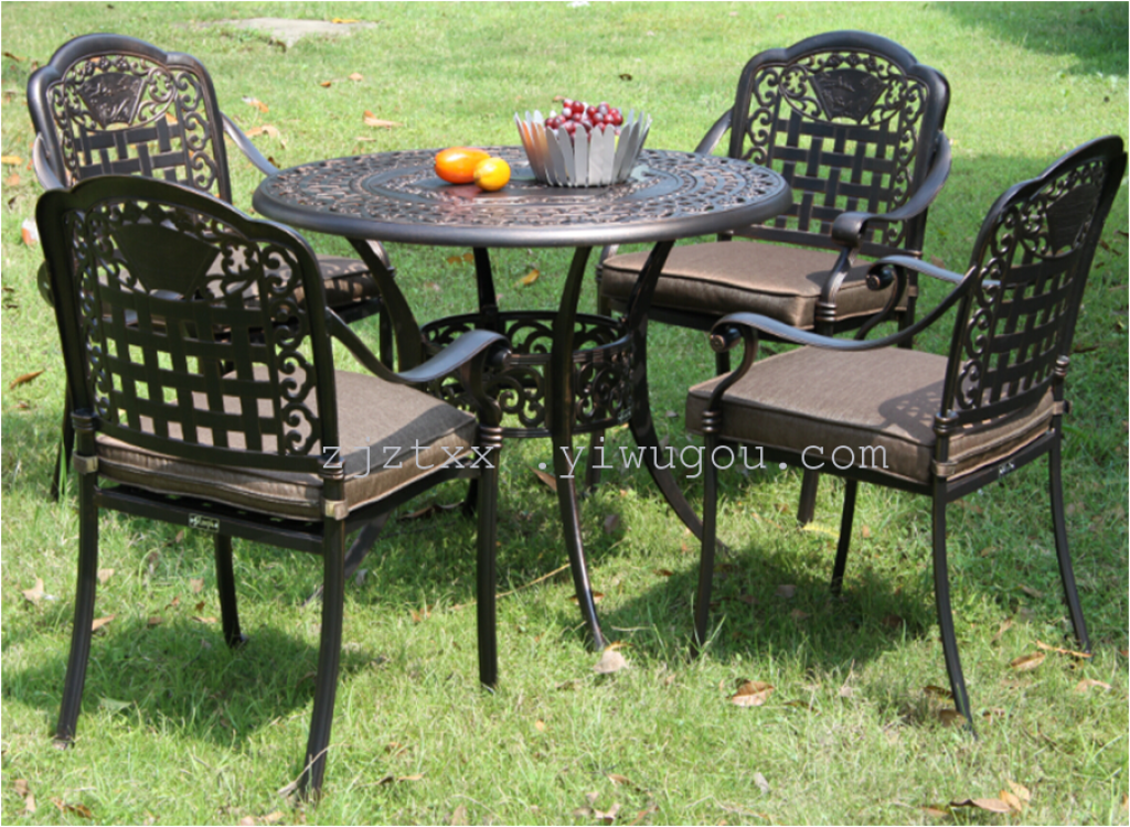 Outdoor Furniture Combination Of European Iron Outdoor Furniture Chairs  Balcony Garden Courtyard Aluminum Chairs