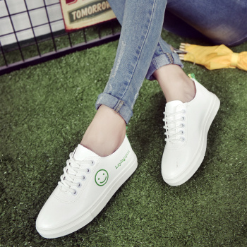 2016 new fashion all-match lovely white shoes