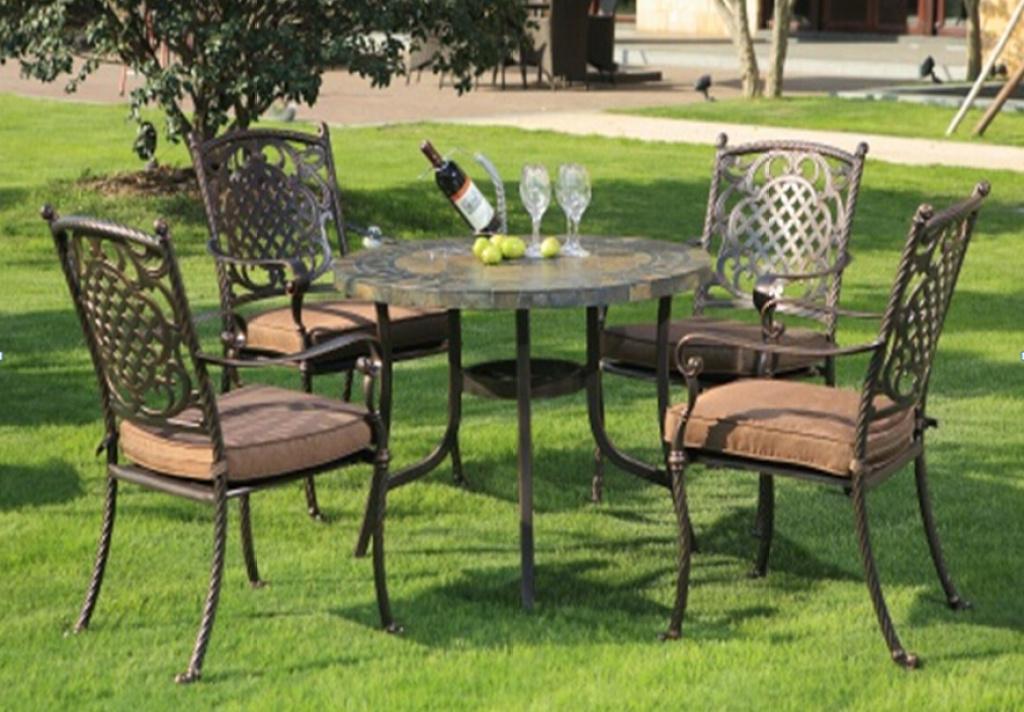 Outdoor Furniture Patio Patio Outdoor Furniture Balcony Chairs European Retro  Aluminum Chairs Combination